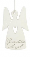 Gisela Graham - Cream Ceramic Guardian Angel (heart)